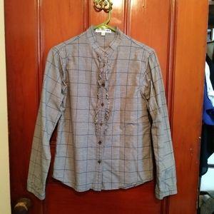 Uniqlo Ines de la Fressange M Houndstooth Shirt